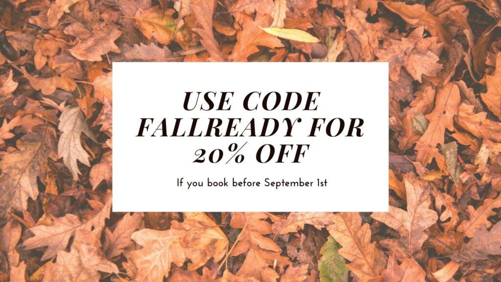 Fall Mini Sessions Discount